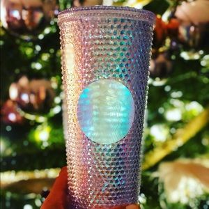 Rainbow iridescent unicorn Starbucks tumbler